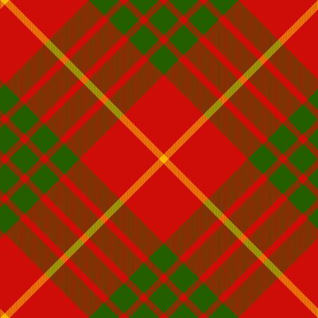 clan: clan cameron tartan diagonal seamless pattern vector illustration