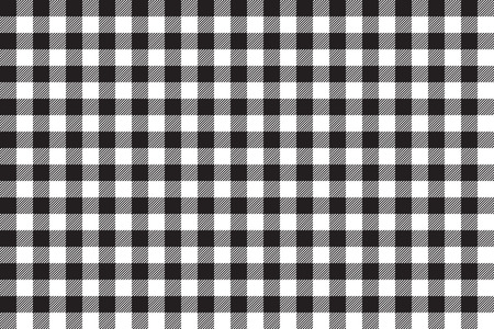 picnic cloth: Tablecloth background black seamless pattern. Vector illustration of traditional gingham dining cloth with fabric texture. Checkered picnic cooking tablecloth. Illustration