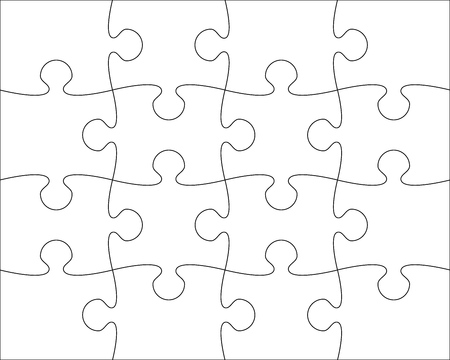 puzzle blank template easy to edit vector illustration  イラスト・ベクター素材