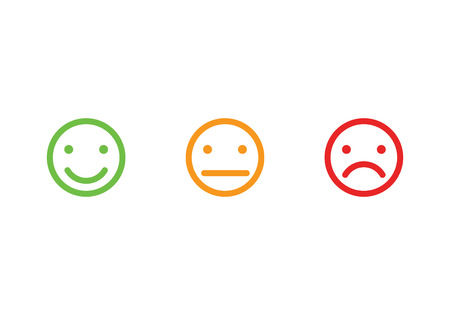 De gezichten van Smiley iconen vector illustratie Stock Illustratie