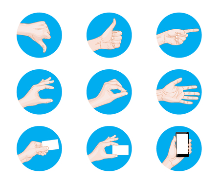 business hand: business hand gestures icon vector illustration