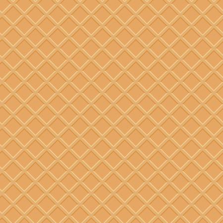 waffle: Seamless waffle texture vector illustration Illustration