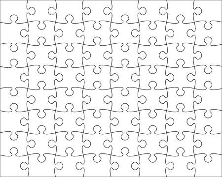 Jigsaw Puzzle template editable blend vector illustration Ilustrace