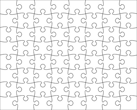 Jigsaw Puzzle template editable blend vector illustration Illustration
