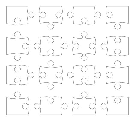 puzzle separate pieces vector illustration