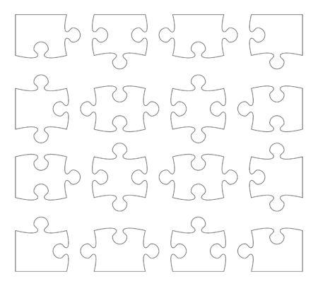 puzzle separate pieces vector illustration