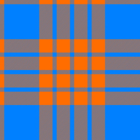 clan: clan tartan seamless background orange and blue vector illustration Illustration