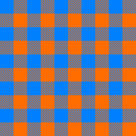 a tablecloth: tablecloth seamless pattern orange and blue vector illustration