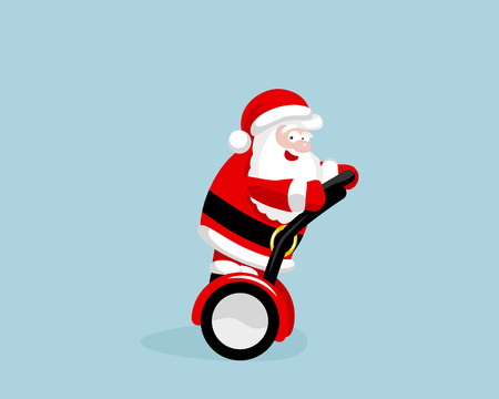 seaway: Santa Claus on the seaway. Illustration