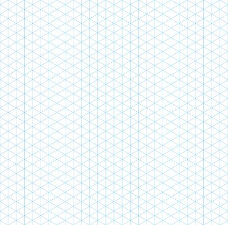 grid paper: empty isometric grid seamless pattern