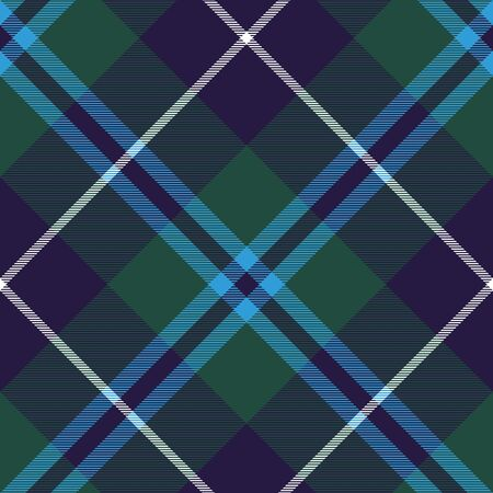 fashion illustration: douglas tartan fabric texture seamless diagonal pattern. Vector illustration. EPS 10. No transparency. No gradients.