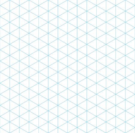 isometric grid seamless pattern, vector illustration, EPS 10  イラスト・ベクター素材