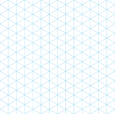 isometric grid seamless pattern, vector illustration, EPS 10 Stock Illustratie