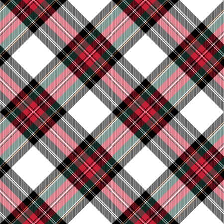 dress stewart tartan seamless pattern diagonal fabric texture. Vector illustration. EPS 10. No transparency. No gradients.