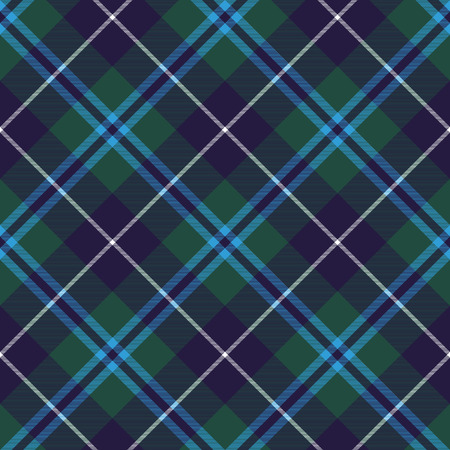 douglas: douglas tartan seamless diagonal pattern fabric texture. Vector illustration. EPS 10. No transparency. No gradients.