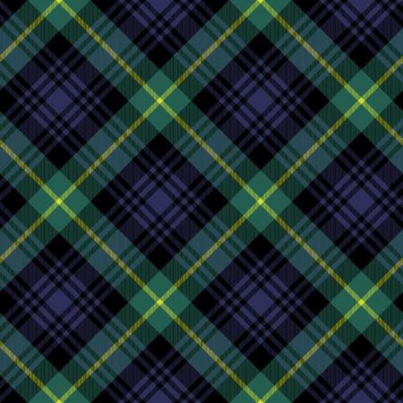 Gordon tartán ilustración patrón de prueba de seamless.Vector textil de la tela. No hay transparencia. No degradados.