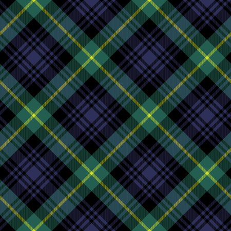 gordon tartan fabric textile check pattern seamless.Vector illustration.  No transparency. No gradients.