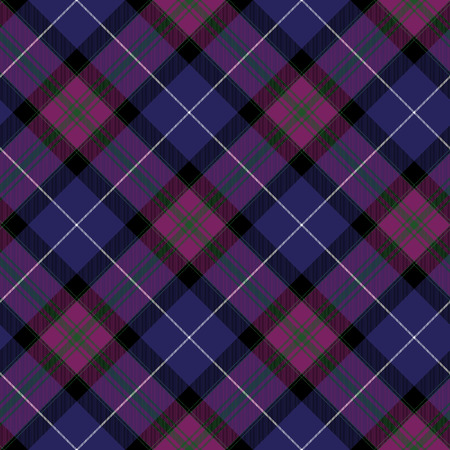 irish pride: Pride of scotland tartan fabric diagonal texture seamless background.Vector illustration.No transparency. No gradients.