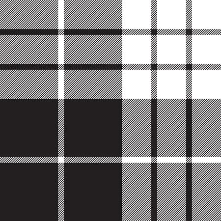 checkered skirt: Macleod tartan black white seamless pattern.Vector illustration. No transparency. No gradients.