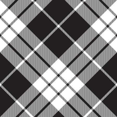 Macleod tartan plaid diagonal seamless pattern.