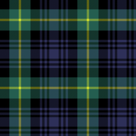 gordon tartan fabric texture plaid pattern seamless. 矢量图像