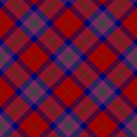 irish pride: Pride of scotland autumn tartan seamless background diagonal pattern  Illustration