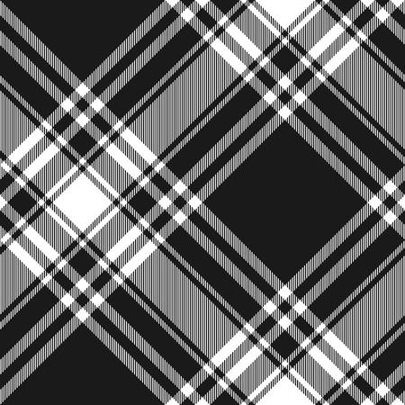 checkered skirt: Menzies tartan black kilt diagonal fabric texture seamless pattern.