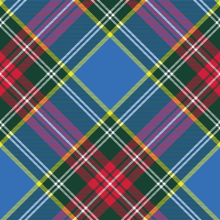 Macbeth Tartan Kilt Stoff Textil diagonale Muster seamless.Vector Illustration. EPS 10. Keine Transparenz. Keine Steigungen. Standard-Bild - 51761560