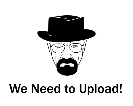 We need to upload man in a hat with beard.Vector illustration. EPS 10. No transparency. No gradients.