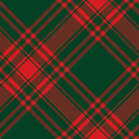 kilt: Menzies tartan green red kilt diagonal fabric texture seamless pattern.Vector illustration. EPS 10. No transparency. No gradients.