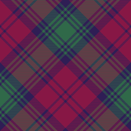 lindsay: Lindsay tartan fabric texture diagonal pattern seamless.Vector illustration. EPS 10. No transparency. No gradients. Illustration