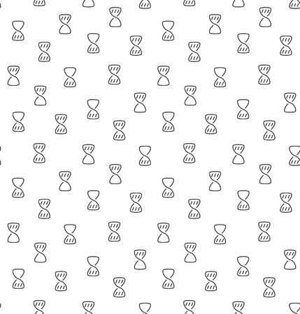 wait: Hourglass clock wait seamless pattern. Vector illustration. EPS 10.