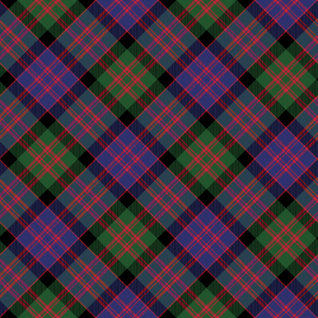 macdonald: Macdonald tartan kilt fabric diagonal texture background seamless pattern.Vector illustration. EPS 10. No transparency. No gradients.