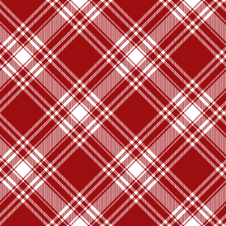 kilt: Menzies tartan red kilt diagonal fabric texture background seamless pattern.Vector illustration. EPS 10. No transparency. No gradients.