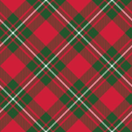 Macgregor falda de tartán tejido textil patrón diagonal seamless.Vector ilustración. EPS 10. Sin transparencia. No degradados.