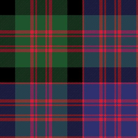 checkered skirt: Macdonald tartan kilt fabric textile check pattern seamless.Vector illustration. EPS 10. No transparency. No gradients. Illustration