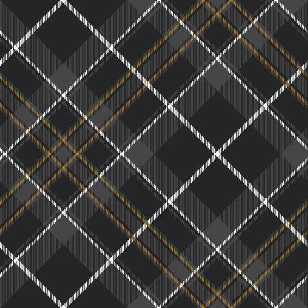 irish pride: Pride of scotland hunting tartan diagonal seamless pattern .Vector illustration. EPS 10. No transparency. No gradients. Illustration