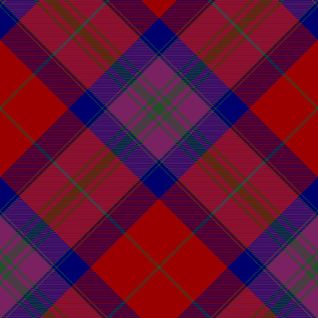 Pride of scotland autumn tartan seamless diagonal pattern .Vector illustration. EPS 10. No transparency. No gradients.