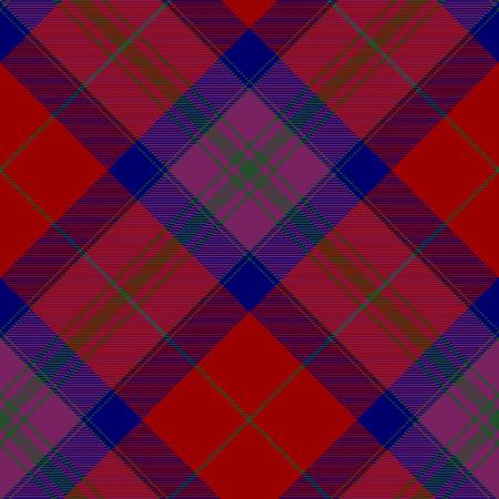 irish pride: Pride of scotland autumn tartan seamless diagonal pattern .Vector illustration. EPS 10. No transparency. No gradients.