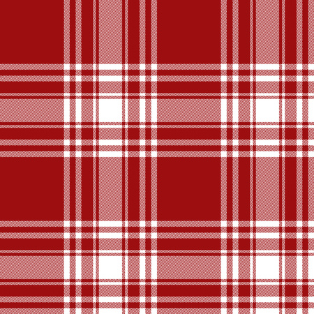 kilt: Menzies tartan red kilt skirt fabric texture seamless pattern.Vector illustration. EPS 10. No transparency. No gradients.
