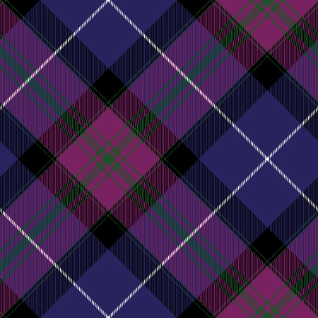 irish pride: Pride of scotland tartan fabric diagonal texture seamless pattern. Illustration