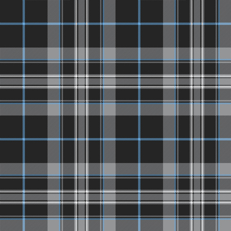 Pride of scotland platinum kilt tartan texture seamless pattern. Stock Illustratie