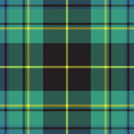 irish culture: Pride of ireland tartan fabric texture seamless pattern.