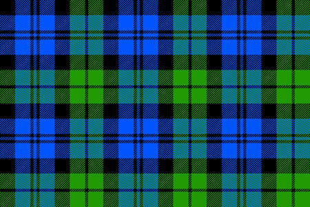 Black Watch milytary tartan seamless pattern. Stock Illustratie