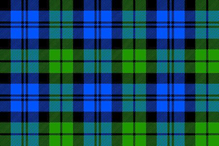 Black Watch milytary tartan seamless pattern. Ilustração