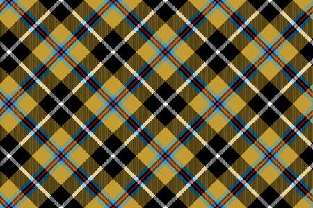 cornish tartan fabric texture seamless diagonal pattern. Illusztráció