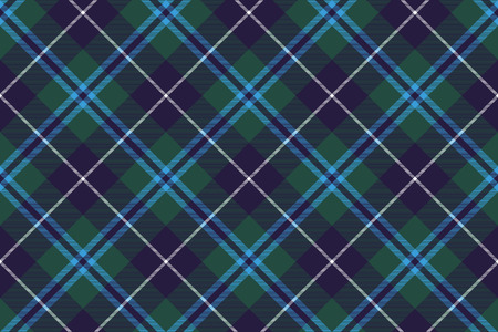 douglas tartan fabric texture seamless diagonal pattern. Vettoriali