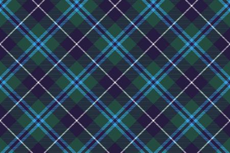 douglas tartan fabric texture seamless diagonal pattern. Illustration