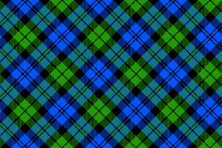 Black Watch milytary tartan diagonal seamless pattern.