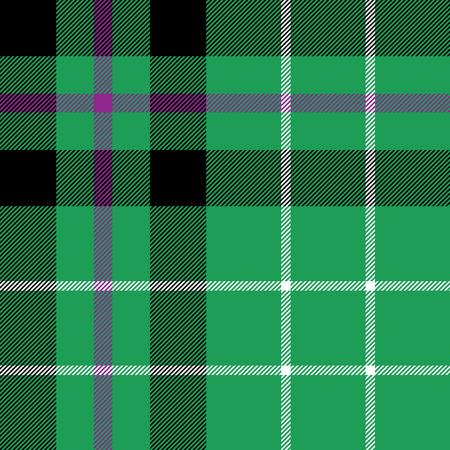 patterning: Hibernian fc tartan fabric textile check pattern seamless. Illustration